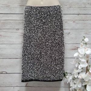 Calvin Klein Black and White Pencil Skirt